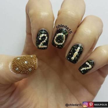 Happy 2017! nail art by chleda15