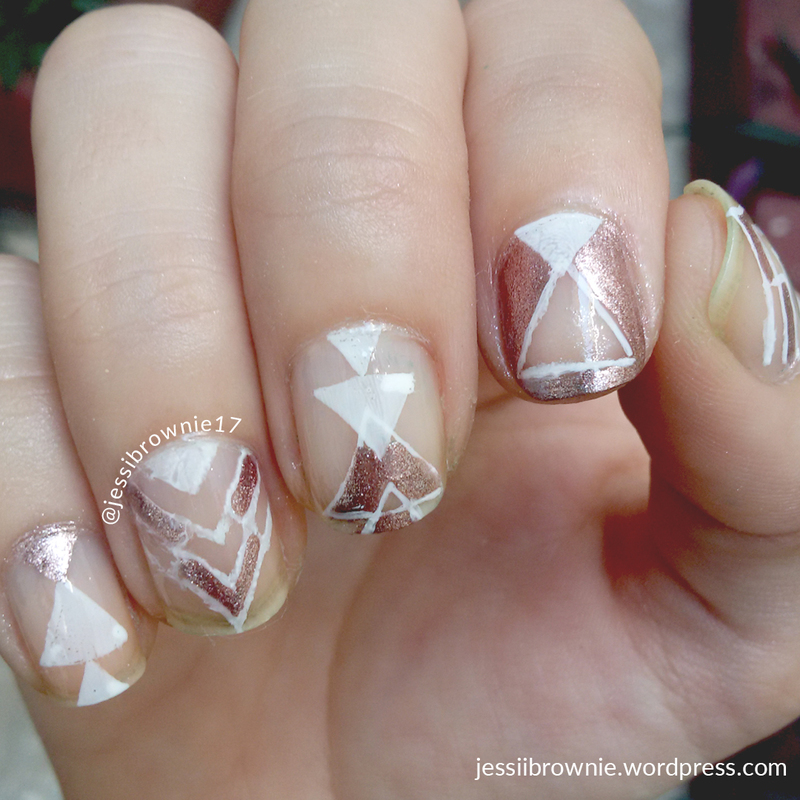 Rose Gold Negative Space Nails nail art by Jessi Brownie (Jessi ...