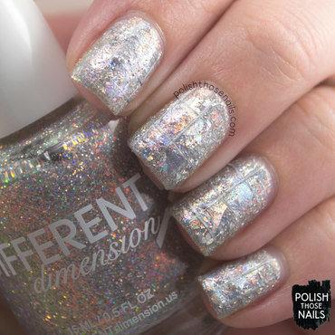 Silver glitter holo foil grid nail art 4 thumb370f