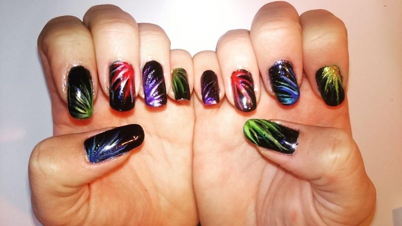 Happy new year! nail art by Sabina Salomonsson
