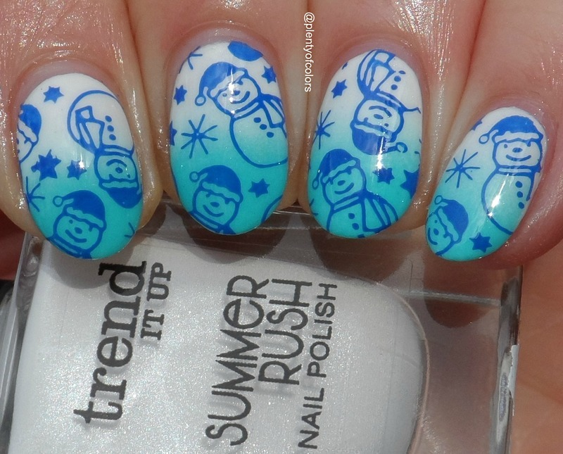 Frosty & Friends nail art by Plenty of Colors