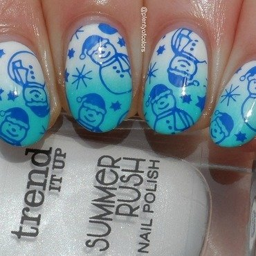 Frosty & Friends nail art by Plenty of Colors