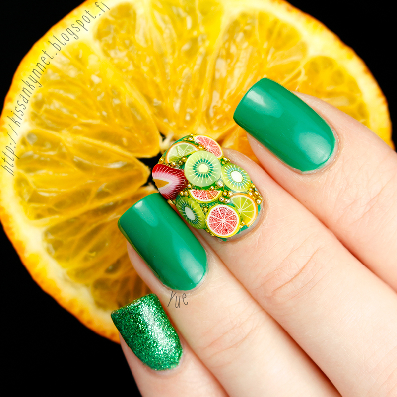 Fruit salad nail art by Yue