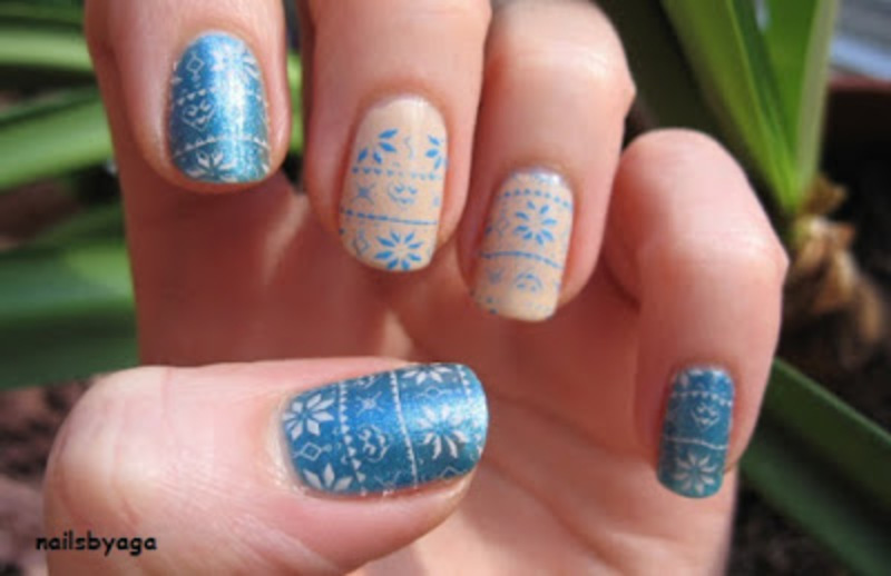 Sweater nails nail art by agazar30