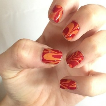 Water Marble nail art by abby_nails