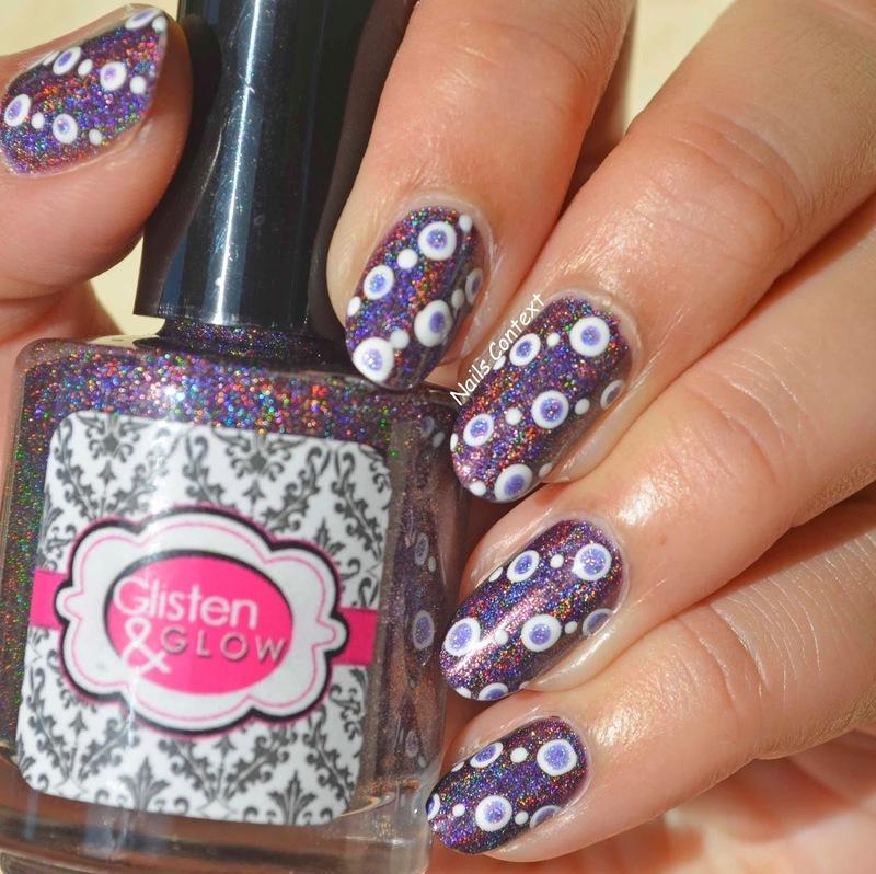 Holographic Dots  nail art by NailsContext