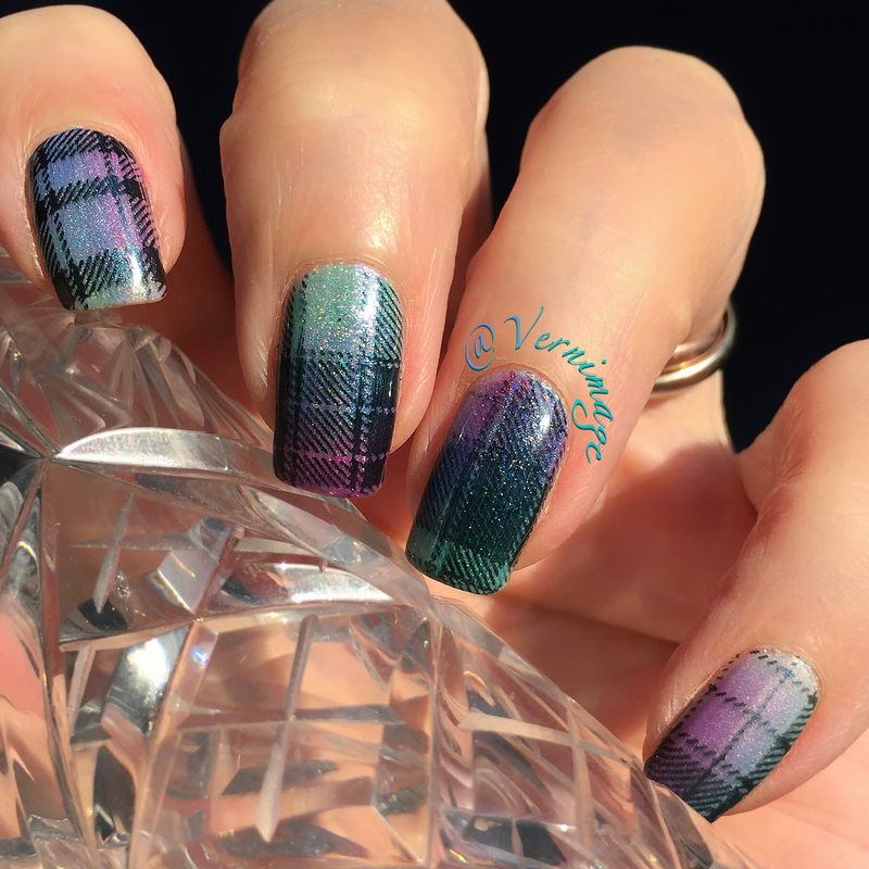 I'd buy this plaid anytime! nail art by Vernimage