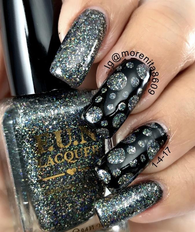 holographic glitter nails nail art by Morenita  Morena