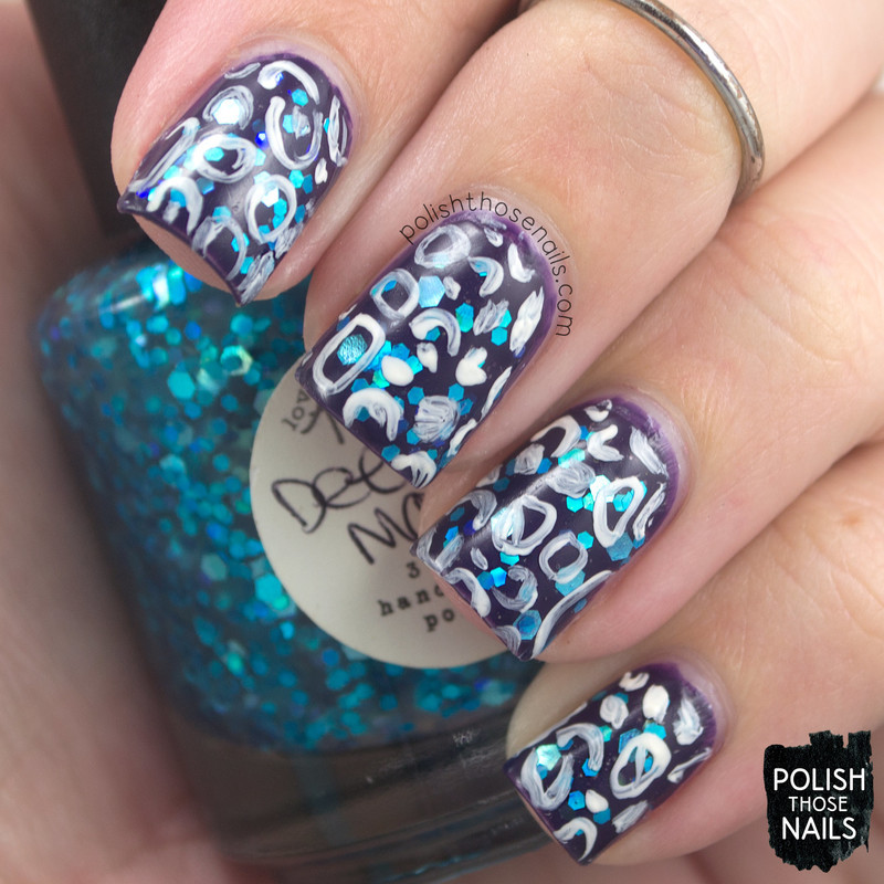 Squiggle Magic nail art by Marisa  Cavanaugh