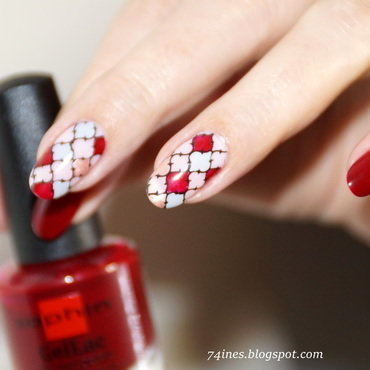 I Can't Stop Thinking About You nail art by 74ines