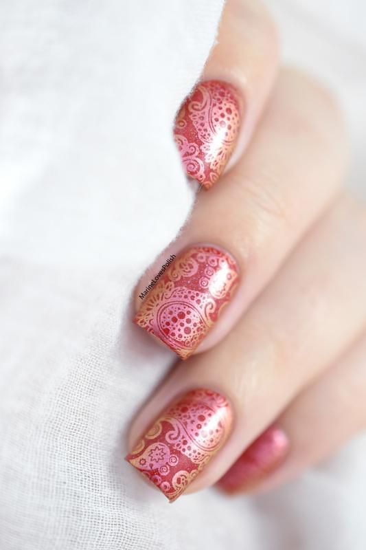 Duochrome paisley nail art by Marine Loves Polish