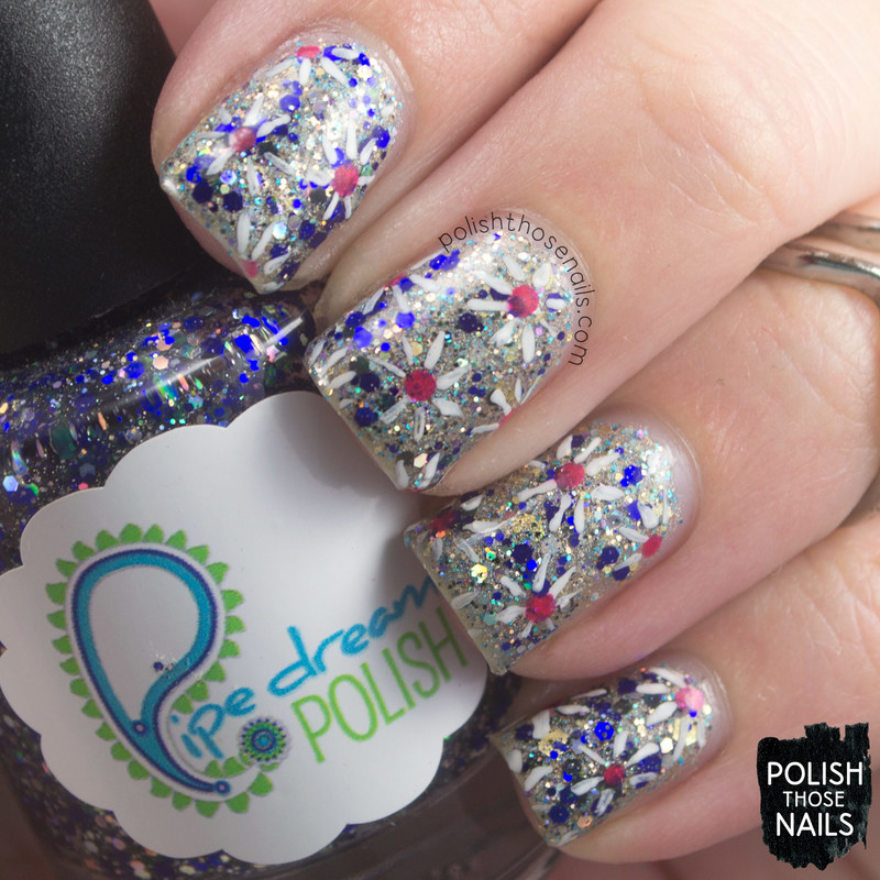 Crystalline Fireworks nail art by Marisa  Cavanaugh