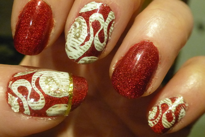 December nail art by Barbouilleuse