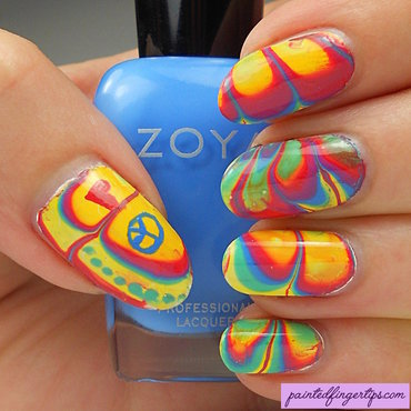 Bright coloured water marble thumb370f