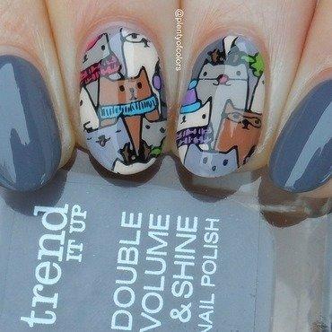 Kätzchenbande nail art by Plenty of Colors