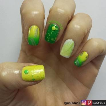 Bright Budgie nail art by chleda15