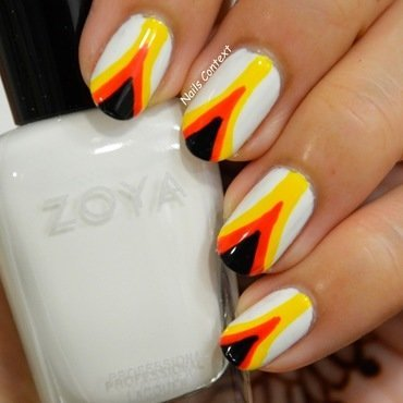 Fire Nails  nail art by NailsContext