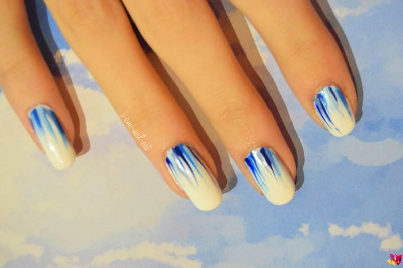 Blue Ribbons nail art by i-am-nail-art