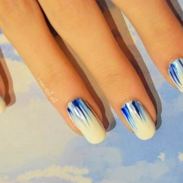 Blue Ribbons nail art by i-am-nail-art