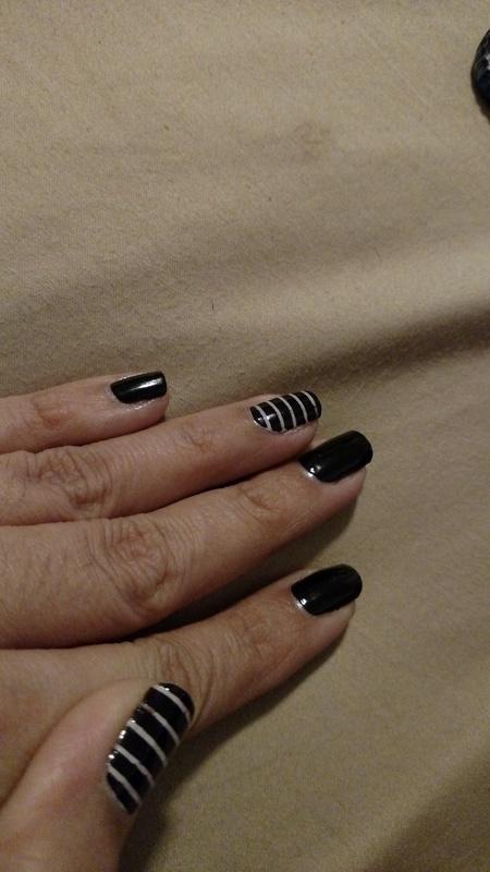 I've got stripes nail art by Rubby  Jarnagin