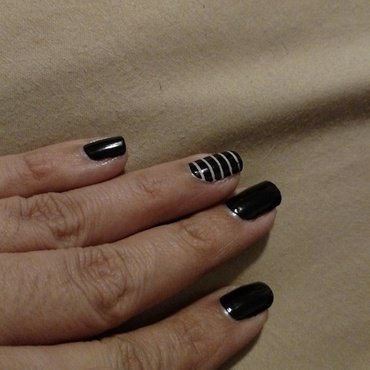 I've got stripes nail art by Rubby  Jarnagin