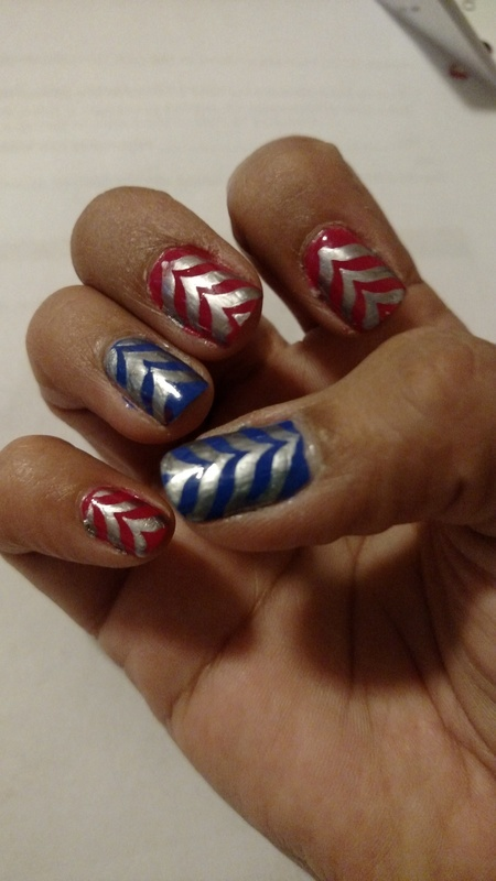 Chevron nail art by Rubby  Jarnagin