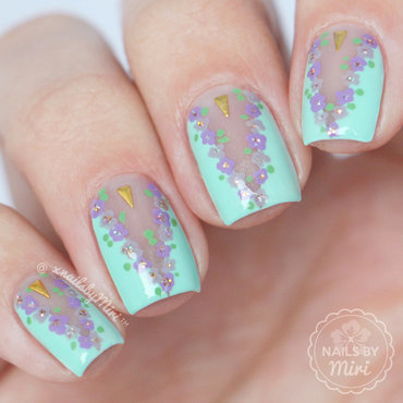 Negative Space Floral nail art by xNailsByMiri