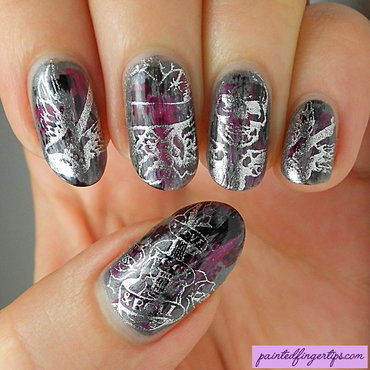 90s grunge nails nail art by Kerry_Fingertips