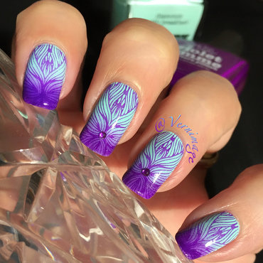 Purple and Blue Mystery nail art by Vernimage