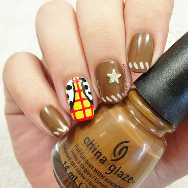 Toy story : Woody nail art by klo-s-to-me