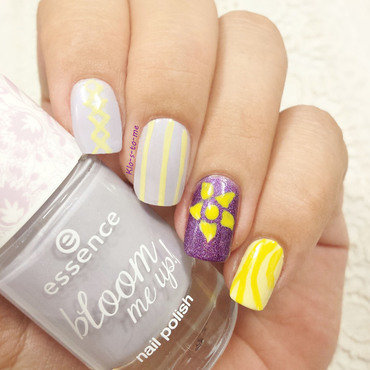 Tangled nail art by klo-s-to-me