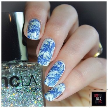 Snowflakes nail art by Love Nails Etc
