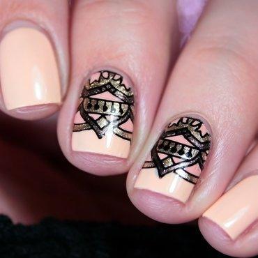 Stamping nail art by Romana