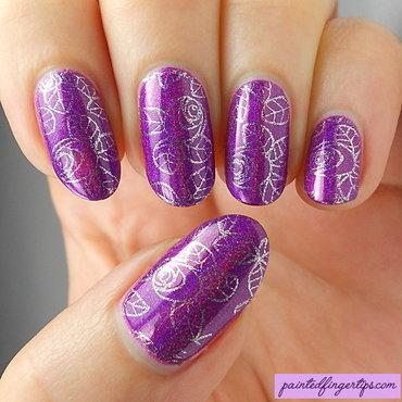 Roses nail stamping thumb370f