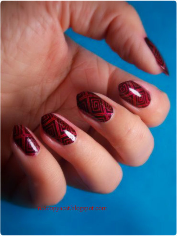 Ancient touch nail art by notcopyacat