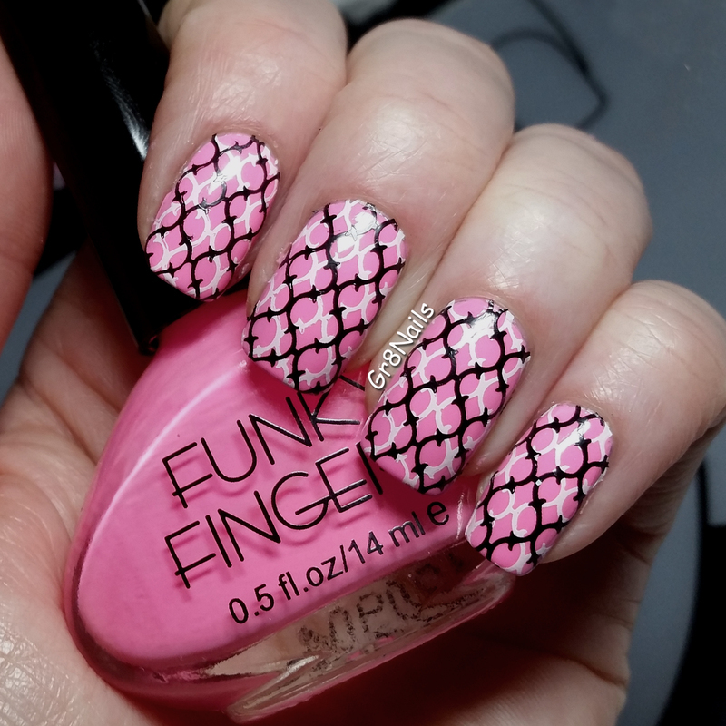 Pretty in Pink nail art by Gr8Nails