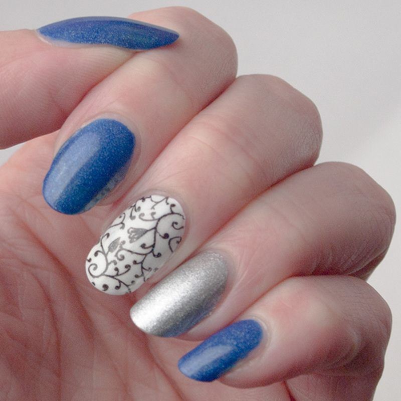 Quick manicure - recycled nail art by What's on my nails today?