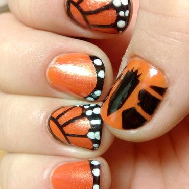 crown of butterflies nail art by Anna