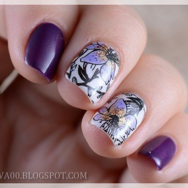 Purple Scandal  nail art by Jadwiga