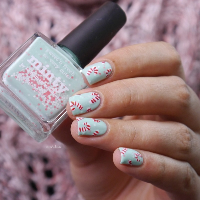 candy canes nail art by irma