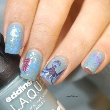 under water nail art by irma