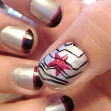 Winter Soldier nail art by Anna