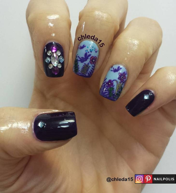 The Fairies Flight in the Fields nail art by chleda15