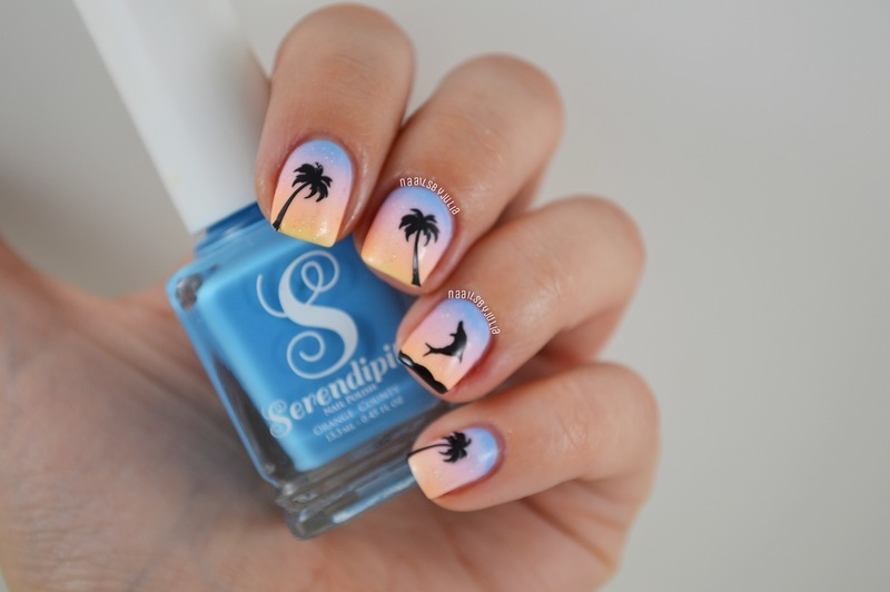 Paradise nail art by Julia