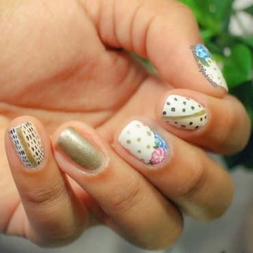 Floral Inspired! nail art by Gabrielle