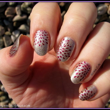 Fireworks nail art by Nail Crazinesss