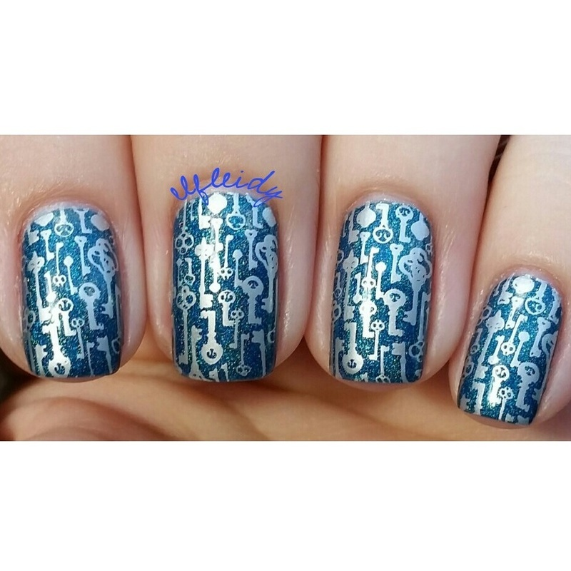 Keys nail art by Jenette Maitland-Tomblin