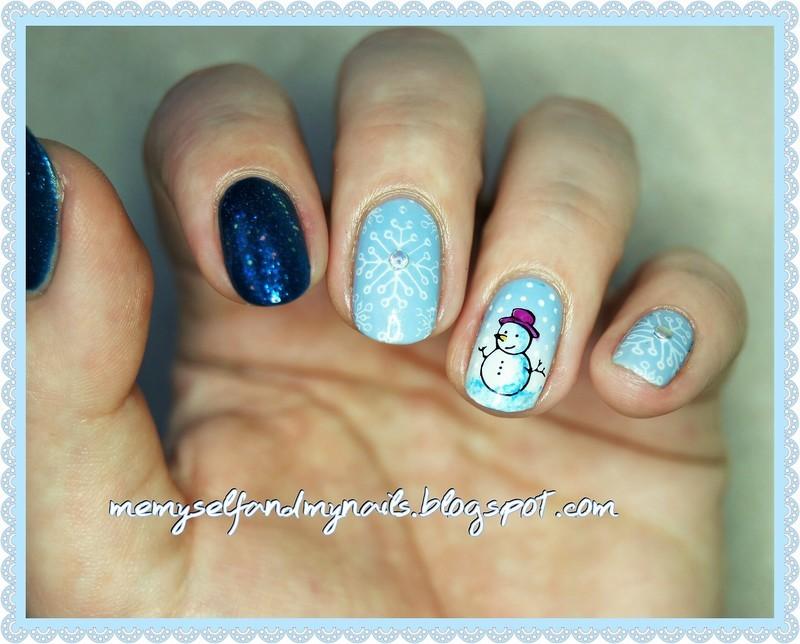 Winter time :) nail art by ELIZA OK-W