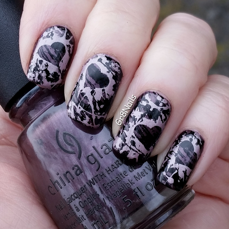 Splatter Nail Art nail art by Gr8Nails