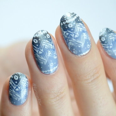Winter Gradient nail art by Furious Filer